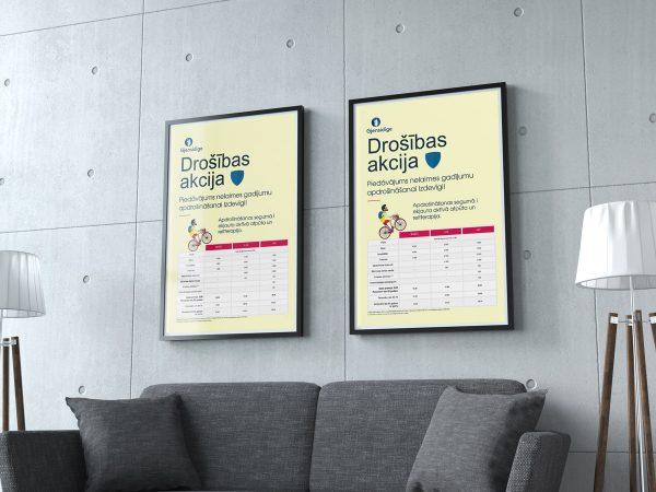 """Insurance company """"Gjensidige"""" poster"""
